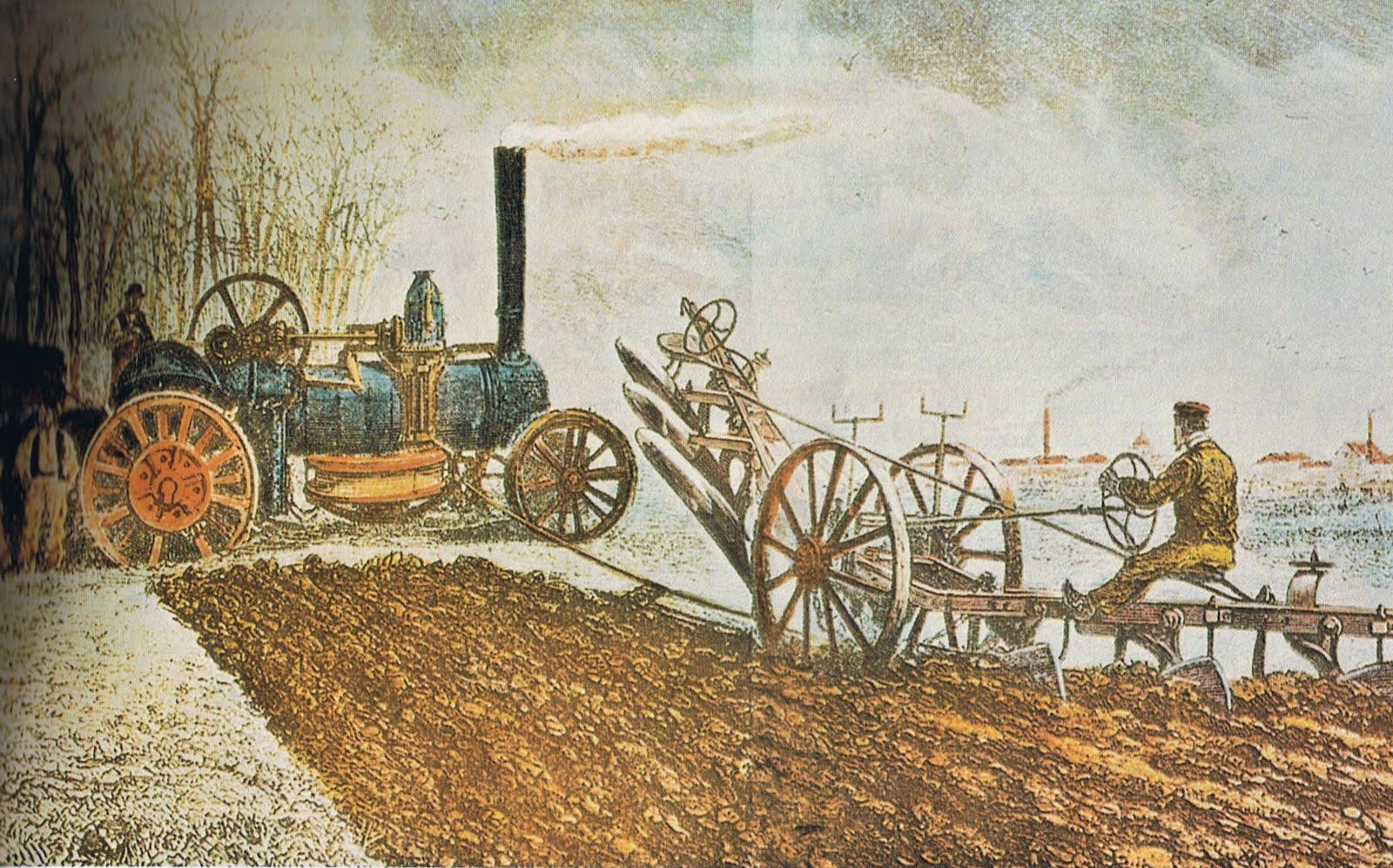 origen de la maquinaria agrícola